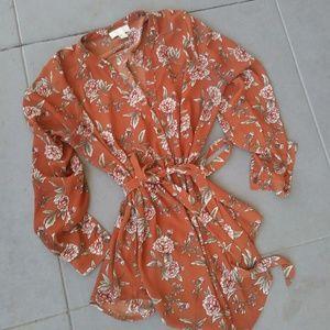 Forever 21 Plus Size Kimono Inspired Floral Tunic